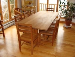 Teak Furniture Gallery - 8' Essex Table w-Essex Chairs Set (ET96)