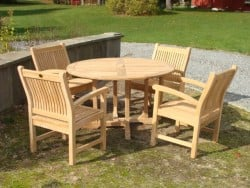 "Teak Furniture Gallery - Balmoral Table 51"" Set (BT51)"