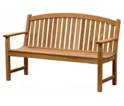 Teak Furniture Gallery - Bowed Back Bench 5' (BB5)