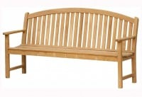 Teak Furniture Gallery - Bowed Back Bench 6' (BB6)