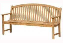Teak Furniture Gallery - Bowed Back Bench 6' (BB6)