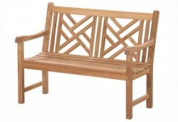 Teak Furniture Gallery - Chippendale Bench 4' (CP4)