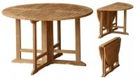 Teak Furniture Gallery - Drop Leaf Table 47 (DL47)
