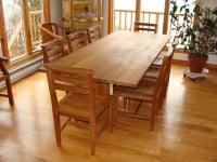 Teak Furniture Gallery - 8' Essex Table w-Essex Chairs Set (ET96)