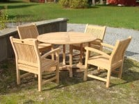 "Teak Furniture Gallery - Balmoral Table 51"" Set (BT51)"