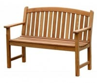 Teak Furniture Gallery - Bowed Back Bench 4' (BB4)