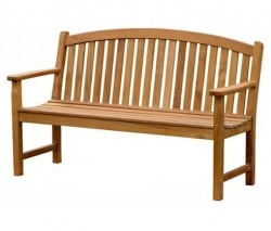 Teak Furniture Gallery - Bowed Back Bench 5' (BB5)