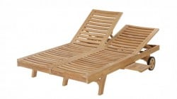 Teak Furniture Gallery - Nantucket Double Lounger (NCD)