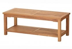 Teak Furniture Gallery - Rectangle Coffee Table with shelf (RCTS)