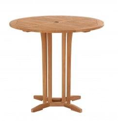 """Teak Furniture Gallery - Round Bar Table 42"""" (BT42)"""