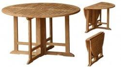 Teak Furniture Gallery - Drop Leaf Table 47 (DL47)