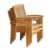 Teak Furniture Gallery - Vineyard Stacking Arm Chair (VN)
